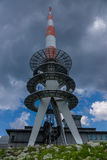Transmission tower on the Brocken of Harz,Germany Stock Photos