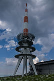 Transmission tower on the Brocken of Harz,Germany Royalty Free Stock Images