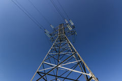 The transmission tower. From a close distance royalty free stock photos