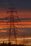 Transmission tower in dusk. Stock Photography