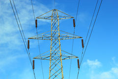 Transmission tower or electricity pylon. Royalty Free Stock Photography