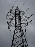 A transmission tower (electricity pylon).  royalty free stock images