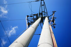 Transmission tower. For electricity supply royalty free stock photo