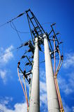 Transmission tower. For electricity supply royalty free stock photos