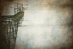 Transmission tower. Grungy design illustration with transmission tower Stock Image