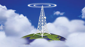 Transmission Tower in HD. Animation of a Transmission Tower in HD stock video footage