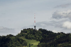 Transmission tower on hillside Stock Image