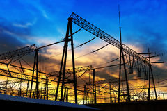 Free Transmission Tower In The Sunset In Shanghai Royalty Free Stock Photography - 74584057