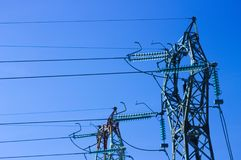 Transmission tower - Power line Stock Photos