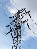 Transmission tower. Shot of the transmission tower - industrial construction stock photo