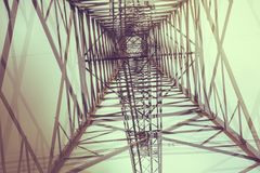 Transmission tower. In front of a couldy sky stock photography
