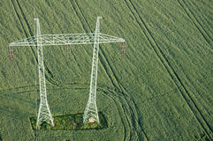 Transmission towers Stock Images