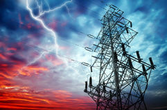 Transmission towers Stock Image