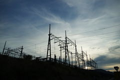 Transmission towers Royalty Free Stock Images
