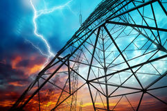 Transmission towers Royalty Free Stock Image