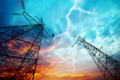 Transmission towers Royalty Free Stock Photo