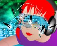 Transmission transcontinentale des données Photo libre de droits