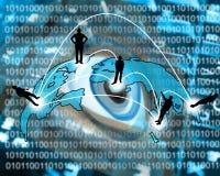 Transmission transcontinentale des données Image libre de droits