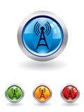 transmissions de bouton illustration stock