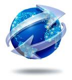 Transmissions de réseau global illustration libre de droits