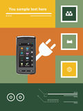 Transmissions mobiles illustration stock