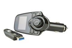Transmissor de FM do carro Fotografia de Stock