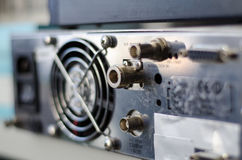 Transmissor FM dos conectores do painel traseiro foto de stock royalty free