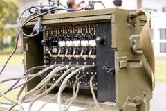 Transmissor militar velho do receptor de rádio de exército dos EUA Fotografia de Stock
