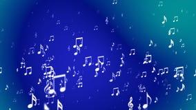 Transmita notas de aumentação da música, azul, eventos, Loopable, 4K ilustração do vetor