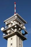 Transmiter Klinovec de la TV Fotos de archivo libres de regalías