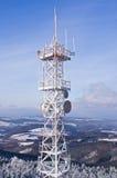 Transmiter sur la montagne de Wielka Sowa, Pologne Photo stock