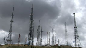 Transmitter with clouds timelapse. 1080i stock footage