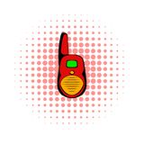 Transmitter comics icon. Isolated on a white background stock illustration