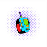 Transmitter comics icon Stock Photos