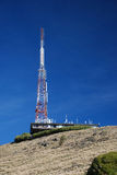 Transmitter on the hill Stock Photos