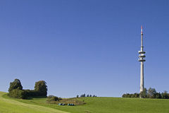 Transmitter on  Hohenpeissenberg Stock Image