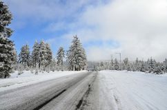 Ore Mountains Klinovec  Czech Republic in winter Stock Photos