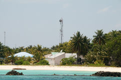 Transmitter mast in Maldives Stock Photos