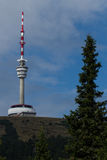 Transmitter. On a mountain top Stock Images