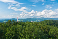 Transmitter in the mountains Royalty Free Stock Photo
