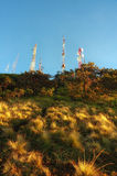 Transmitter pole at top of Bromo mountain Royalty Free Stock Images