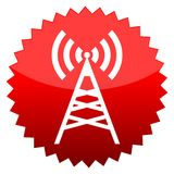 Transmitter, Red sun sign Royalty Free Stock Image