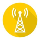 Transmitter simple icon with long shadow Stock Image