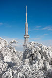 Transmitter on Sleza Mountain Stock Photo