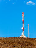 Transmitter station on a mountain Royalty Free Stock Image