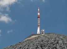 The transmitter at the summit of Sv. Jure - the highest mountain in mountain range Biokovo. In Croatia Stock Photos