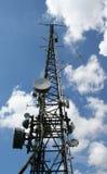 Transmitter tower stock photo