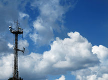 Transmitter tower Royalty Free Stock Images