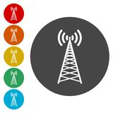 Transmitter tower icon, radio tower broadcast icon. Simple vector illustration