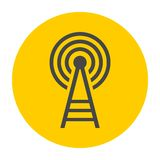 Transmitter tower icon Royalty Free Stock Images
